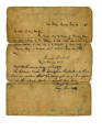 Letter of Protection for Walking Cherry Woman and son Grasshopper from Gen. George Crook